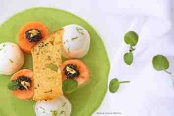 @MarieFranceNelaton-truite-du-Cians-cuite-a-basse-température-caviar-Daurenki-cresson-des-fontaines-en-velouté-blanc-manger-au-citron-vert02