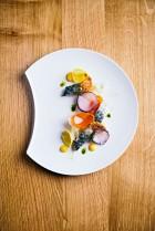 Filet de maquereaux, escabèche à l'orange, navets -Loiseau des Sens @FranckJuery